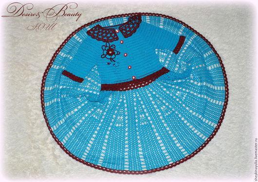 Одежда для девочек, ручной работы. Ярмарка Мастеров - ручная работа. Купить Платье для девочки, платье крючком, платье вязаное. Handmade.