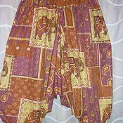 Одежда ручной работы. Ярмарка Мастеров - ручная работа Алладины шелковые в Индийском Стиле со Слонами. Handmade.