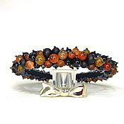 Украшения handmade. Livemaster - original item A rim made of beads and stones (Shungite, Agate, Jasper, Cat`s eye ). Handmade.
