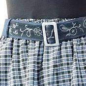 Ярусная юбка длинная в клеточку в стиле бохо