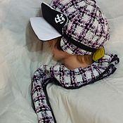 Аксессуары ручной работы. Ярмарка Мастеров - ручная работа Комплект шляпка с двумя козырьками с шарфом. Handmade.