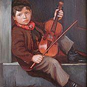 Картины и панно handmade. Livemaster - original item Young violinist. Handmade.