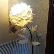 Для дома и интерьера handmade. Livemaster - original item Peony floor lamp / peony Lamp/ night Light Outdoor lighting. Handmade.