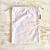 Мешочки ручной работы. Ярмарка Мастеров - ручная работа Эко мешочек из бязи размер M. Handmade.