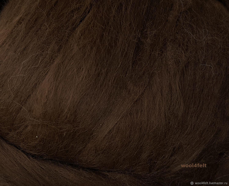 Вискоза матовая темно-коричневая 50 г, Валяние, Рига, Фото №1