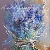 Картины и панно ручной работы. Ярмарка Мастеров - ручная работа Весна в цвете Lavender. Handmade.