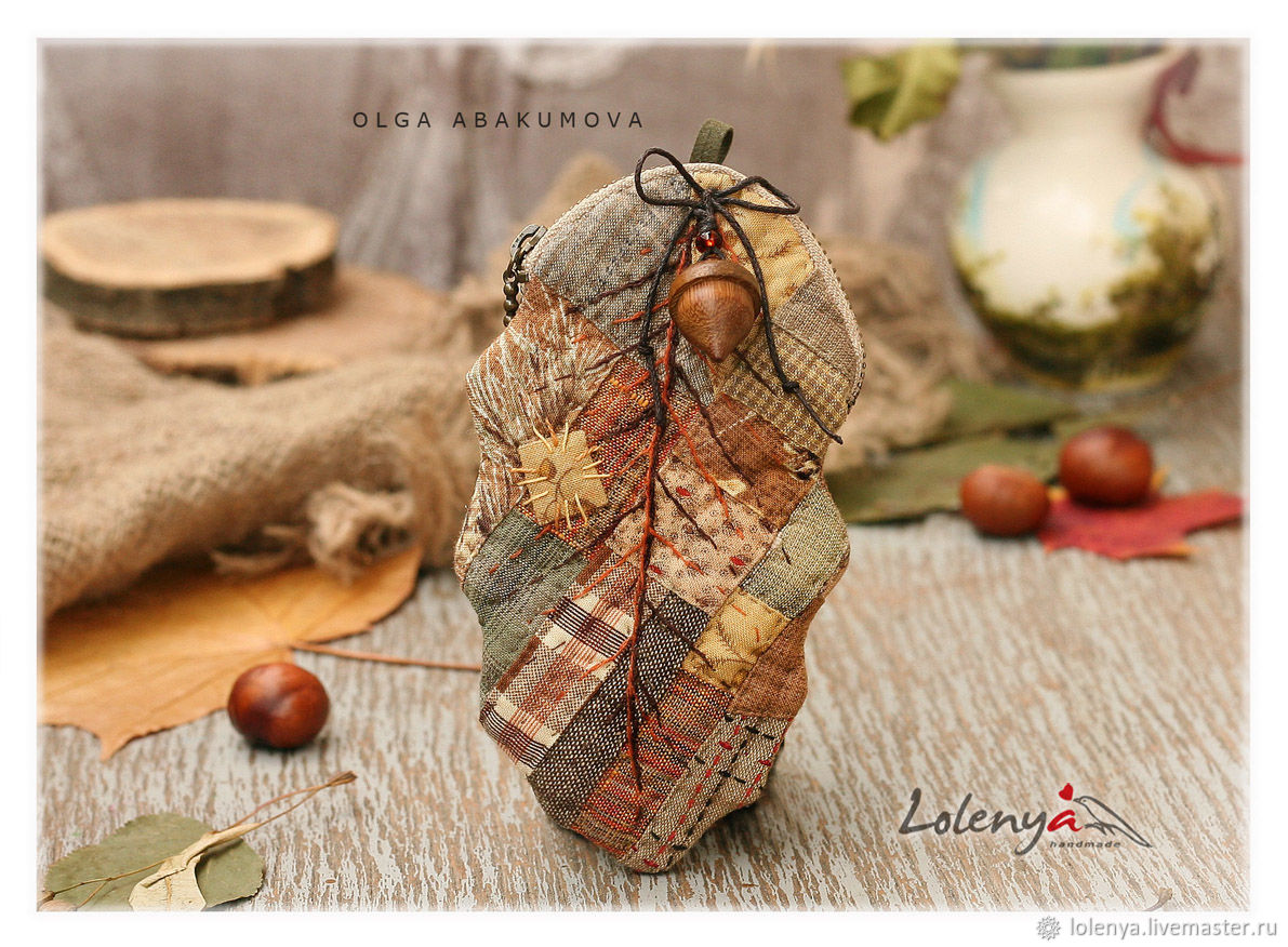 Wallet 'Autumn leaves'. Japanese patchwork, Wallets, St. Petersburg,  Фото №1