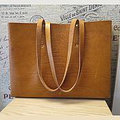 Сумки и аксессуары handmade. Livemaster - original item Shopper bag in saddle leather. Handmade.