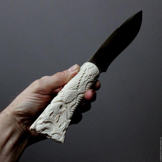 Подарки для мужчин, ручной работы. Ярмарка Мастеров - ручная работа. Купить Нож Викинг (рог лося,сталь 95х18).ер6. Handmade.