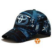 Аксессуары handmade. Livemaster - original item Toyota Blue Full Print Baseball Cap. Handmade.