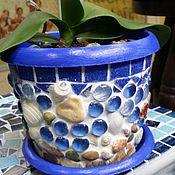 """Для дома и интерьера ручной работы. Ярмарка Мастеров - ручная работа Кашпо """"Микс"""", мозаика. Handmade."""