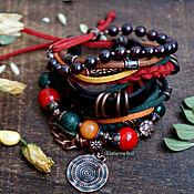 Украшения handmade. Livemaster - original item Boho suede Bracelet into the hands of