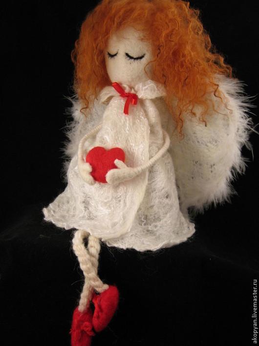 Сказочные персонажи ручной работы. Ярмарка Мастеров - ручная работа. Купить Рыжий ангел. Handmade. Белый, ангелочки, куклы обереги