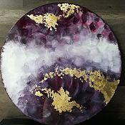 Картины ручной работы. Ярмарка Мастеров - ручная работа Интерьерная картина с золотой поталью 60см. Handmade.