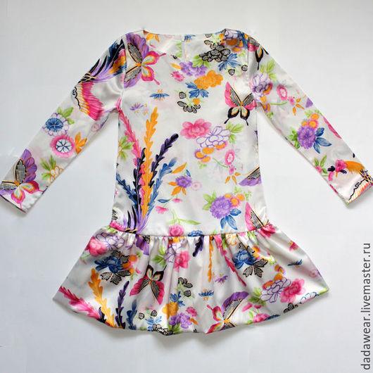 """Платья ручной работы. Ярмарка Мастеров - ручная работа. Купить Платье со спущенной талией """"Жар птица"""". Handmade. Комбинированный"""