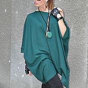 Одежда handmade. Livemaster - original item Stylish long sleeve tunic blouse - TU0558PM. Handmade.