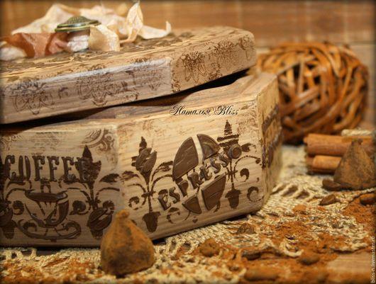 """Кухня ручной работы. Ярмарка Мастеров - ручная работа. Купить Короб """"Сoffee"""". Handmade. Короб для хранения, конфетница, кофейный"""