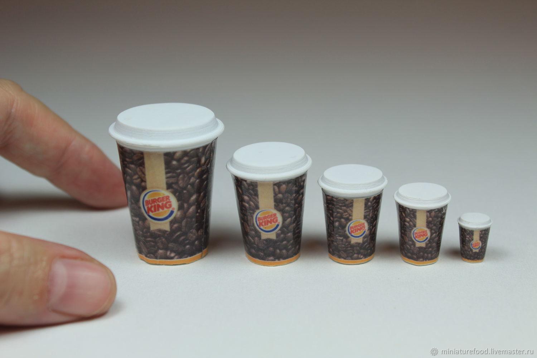 кофе в стакане, в ассортименте, Кукольная еда, Щелково,  Фото №1