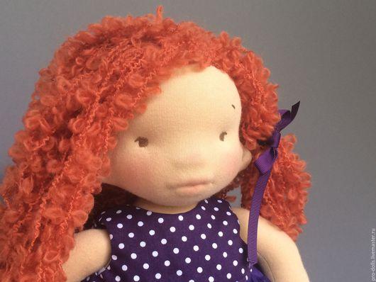 Вальдорфская игрушка ручной работы. Ярмарка Мастеров - ручная работа. Купить Молли. Handmade. Фиолетовый, кукла текстильная, игровая кукла