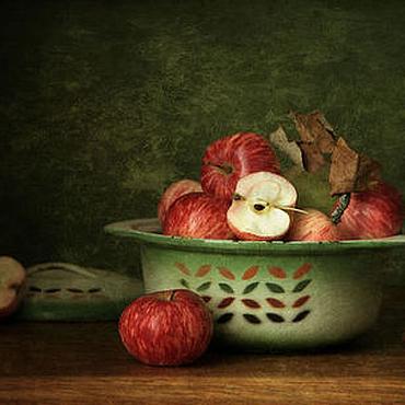 Картины и панно ручной работы. Ярмарка Мастеров - ручная работа Натюрморт фото, картина Яблочная осень. Handmade.