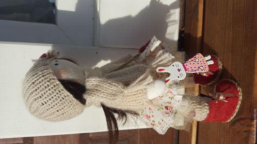 Коллекционные куклы ручной работы. Ярмарка Мастеров - ручная работа. Купить Интерьерная кукла Zefira. Handmade. Текстильная кукла, Снежка