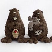 Куклы и игрушки ручной работы. Ярмарка Мастеров - ручная работа БОБРЫ. Handmade.