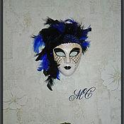 Для дома и интерьера ручной работы. Ярмарка Мастеров - ручная работа Агата  (маска-декор). Handmade.