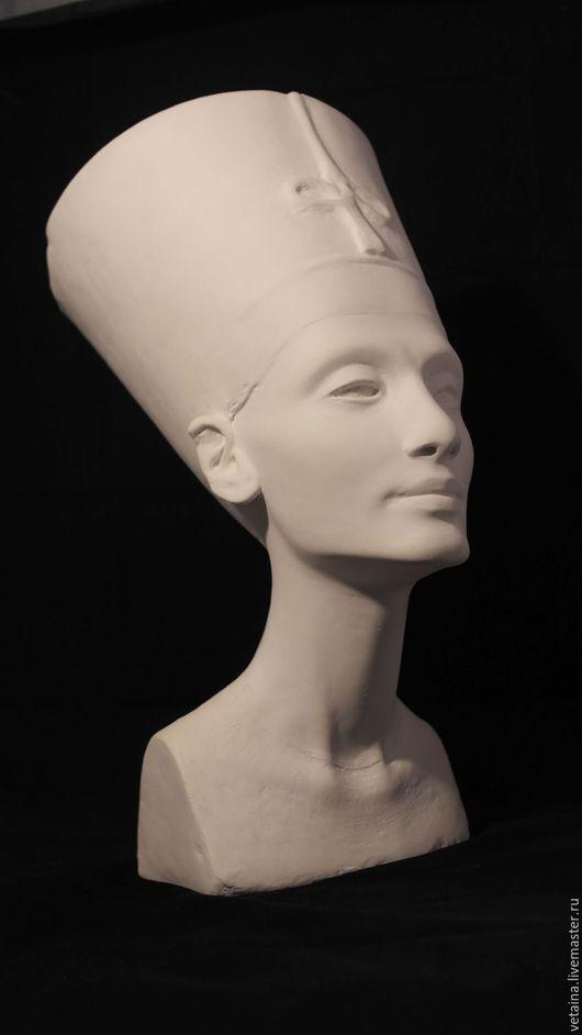 Интерьерные  маски ручной работы. Ярмарка Мастеров - ручная работа. Купить Бюст Нефертити. Handmade. Белый, голова