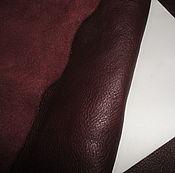 Материалы для творчества ручной работы. Ярмарка Мастеров - ручная работа Натуральная кожа-Акция! 1,2-1,3 мм! Bordo Dreams!. Handmade.