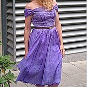 """Одежда ручной работы. Ярмарка Мастеров - ручная работа платье """"Soulful lilac"""", нунофелтинг. Handmade."""