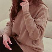 handmade. Livemaster - original item Sweater Warm beige oversize. Handmade.