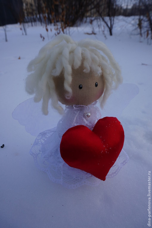 Коллекционные куклы ручной работы. Ярмарка Мастеров - ручная работа. Купить Ангел. Handmade. Разноцветный, ангелочек, ангел, сердце, подарок