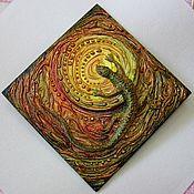 """Картины и панно ручной работы. Ярмарка Мастеров - ручная работа Панно """"Ящерица"""". Handmade."""