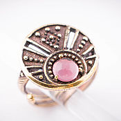 Украшения ручной работы. Ярмарка Мастеров - ручная работа Кольцо с камнем, женское кольцо, перстень из бронзы лунница. Handmade.