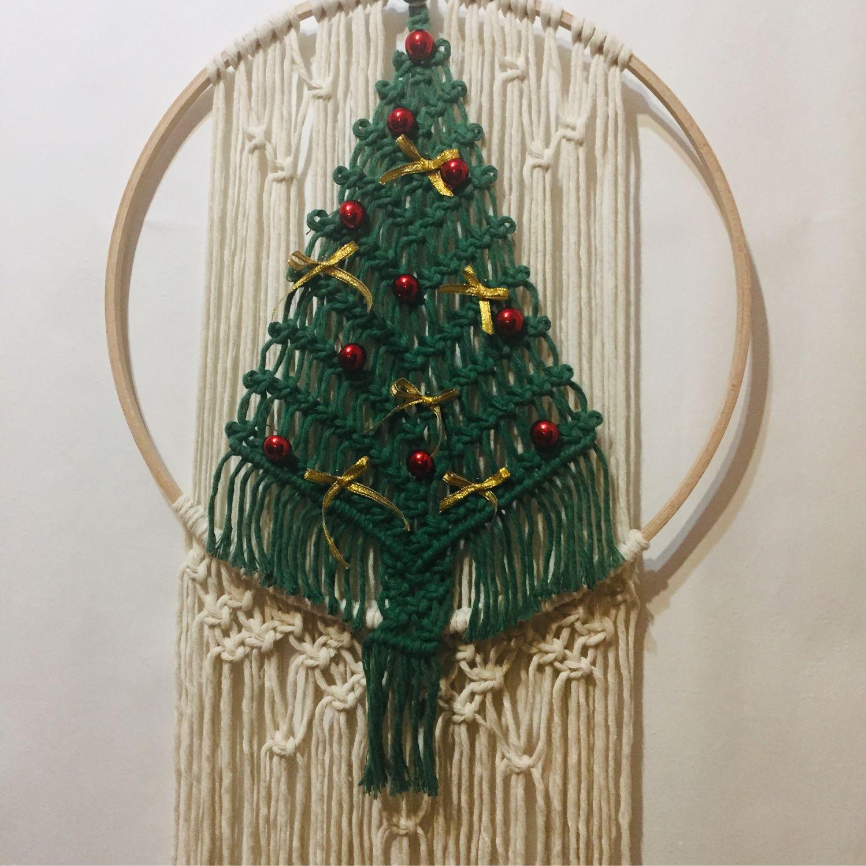 Новогоднее панно макраме в стиле Бохо, Элементы интерьера, Самара,  Фото №1