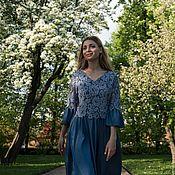Одежда ручной работы. Ярмарка Мастеров - ручная работа Платье Джинсовая феерия. Handmade.