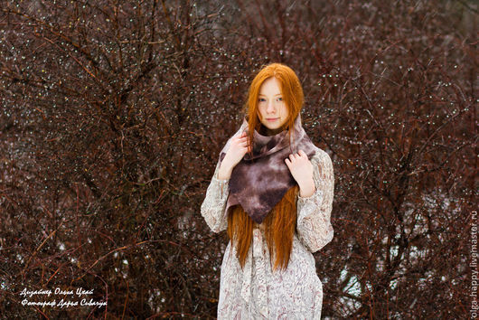 Шарф 104смх30см  Модель: Ольга Мурашова Фотограф: Дарья Сивачук