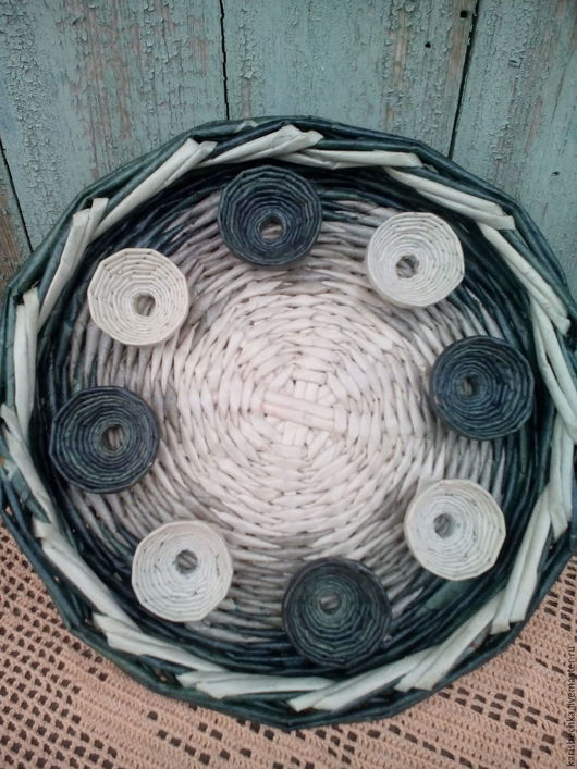 Кухня ручной работы. Ярмарка Мастеров - ручная работа. Купить поднос пасхальный плетеный из бумаги. Handmade. Поднос, пасхальный поднос