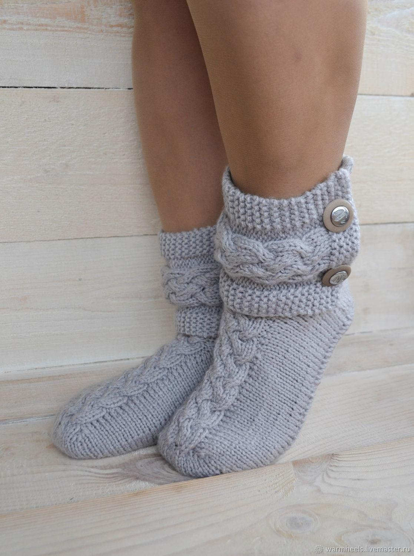 """Вязаные Носки с манжетами """"Бабье Лето"""", Носки, Шатура,  Фото №1"""