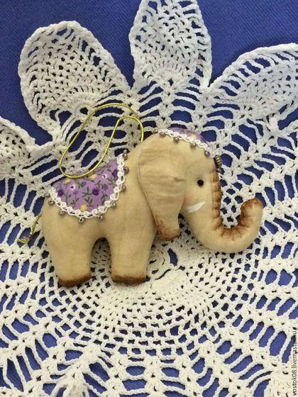 Игрушки животные, ручной работы. Ярмарка Мастеров - ручная работа. Купить Слоник. Handmade. Коричневый, бежевый, слон, слоник, слоненок