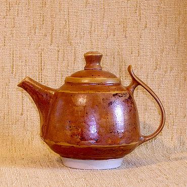 """Посуда ручной работы. Ярмарка Мастеров - ручная работа Чайник """"рыжий"""". Handmade."""