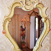 Винтаж handmade. Livemaster - original item Chic vintage mirror. SILIK (Italy). Handmade.