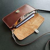 Сумки и аксессуары handmade. Livemaster - original item Small women`s leather bag for phone / smartphone. Handmade.