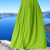 """Одежда ручной работы. Ярмарка Мастеров - ручная работа Теплая юбка из джерси """"Поляна"""" (зеленая юбка, юбка на зиму). Handmade."""