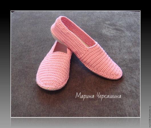 """Обувь ручной работы. Ярмарка Мастеров - ручная работа. Купить Вязаная обувь. Обувь на заказ. Слиперы """"Розовое настроение"""". Handmade."""