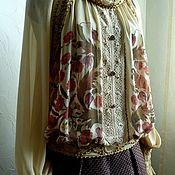 Одежда ручной работы. Ярмарка Мастеров - ручная работа Дизайнерский женский костюм (блузка и юбка). Handmade.