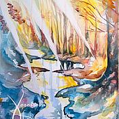"""Картины и панно ручной работы. Ярмарка Мастеров - ручная работа Картина акварелью """"Весенняя музыка"""". Handmade."""