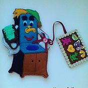 """Игрушки-искалки ручной работы. Ярмарка Мастеров - ручная работа Искалочка """"Мойдодыр"""". Handmade."""