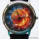 """Часы ручной работы. Ярмарка Мастеров - ручная работа. Купить Часы наручные JK """"Баскетбол"""". Handmade. Разноцветный"""