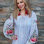 Одежда handmade. Livemaster - original item Exclusive embroidered blouse